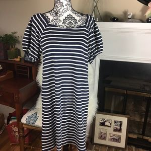 Loft stripe dress medium